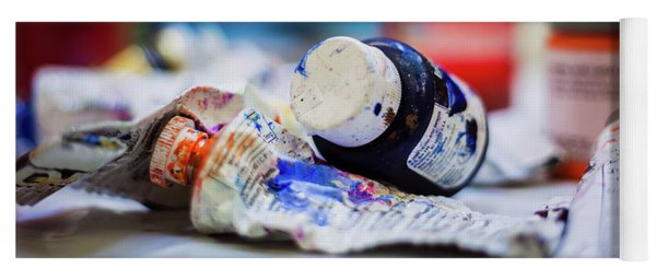 Tubes Of Paint Yoga Mat