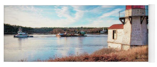 Tugboat, Squirrel Point Lighthouse Yoga Mat
