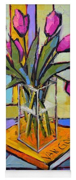 Tulips And Van Gogh - Abstract Still Life Yoga Mat