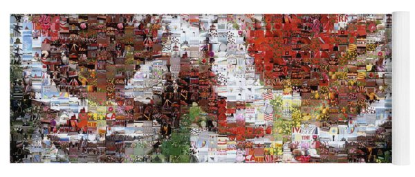 Tulips In Springtime Photomosaic Yoga Mat