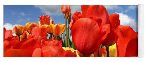 Tulips In The Sky Yoga Mat