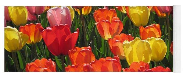 Tulips Like Sunlight Yoga Mat