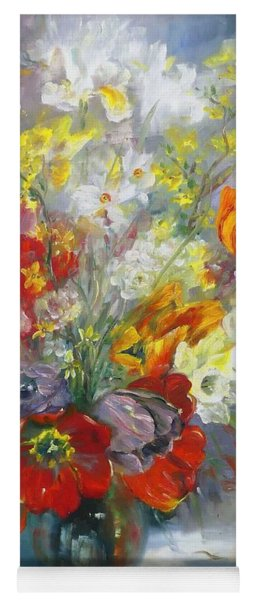 Tulips, Narcissus And Forsythia Yoga Mat