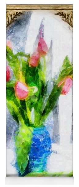Tulips On A Half Shelf Yoga Mat