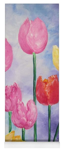 Ten  Simple  Tulips  Pink Red Yellow                                Flying Lamb Productions   Yoga Mat
