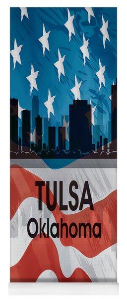 Tulsa Ok American Flag Vertical Yoga Mat