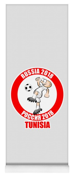 Tunisia In The Soccer World Cup Russia 2018 Yoga Mat