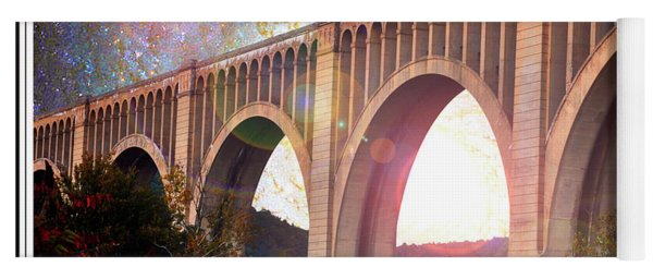 Tunkhannock Viaduct, Nicholson Bridge, Starry Night Fantasy Yoga Mat