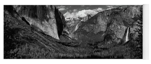Tunnel View Black And White  Yoga Mat