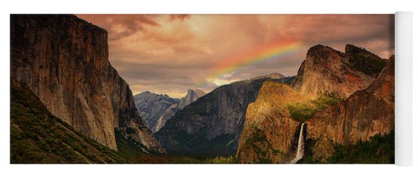 Tunnel View Rainbow Yoga Mat