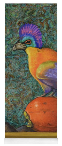 Turaco On A Persimmon Yoga Mat