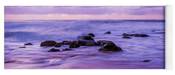 Turbulent Daybreak Seascape Yoga Mat