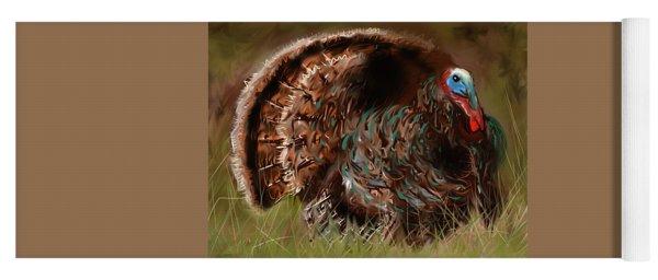 Turkey In The Straw Yoga Mat