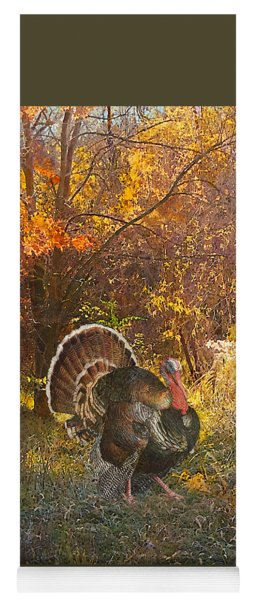 Turkey In The Woods Yoga Mat
