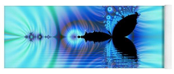 Turquoise Lake Fractal Yoga Mat