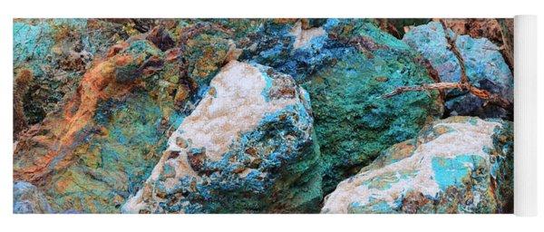 Turquoise Rocks Yoga Mat