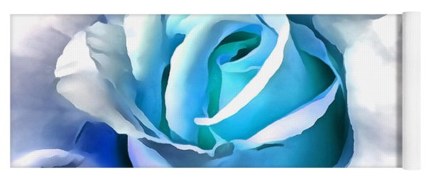 Turquoise Rose Yoga Mat