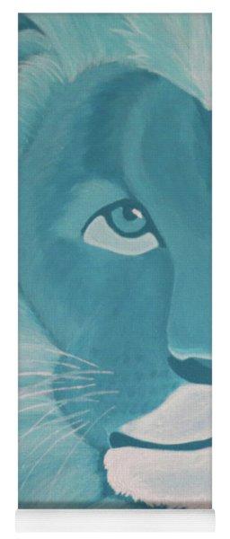 Turquoise Lion Yoga Mat