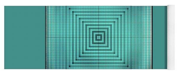 Turquoise Square Yoga Mat