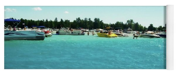 Turquoise Waters At The Torch Lake Sandbar Yoga Mat