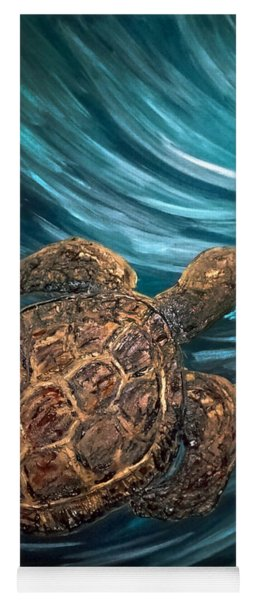 Turtle Wave Deep Blue Yoga Mat