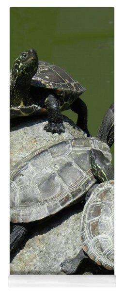 Turtles At A Temple In Narita, Japan Yoga Mat