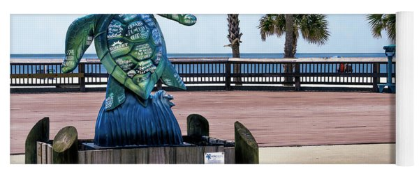 Turtletracks Gulf Shores Orange Beach Al Seascape 1561a Yoga Mat