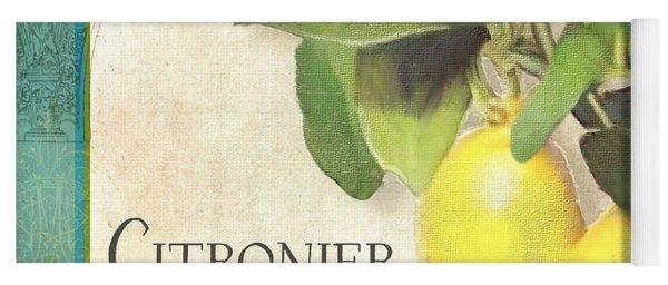 Tuscan Lemon Tree - Citronier Citrus Limonum Vintage Style Yoga Mat