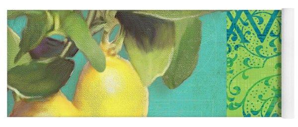 Tuscan Lemon Tree - Citrus Limonum Damask Yoga Mat
