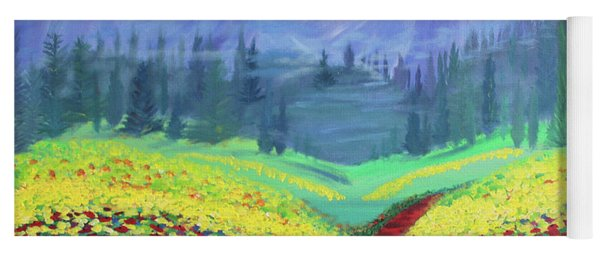 Tuscan Poppies Yoga Mat