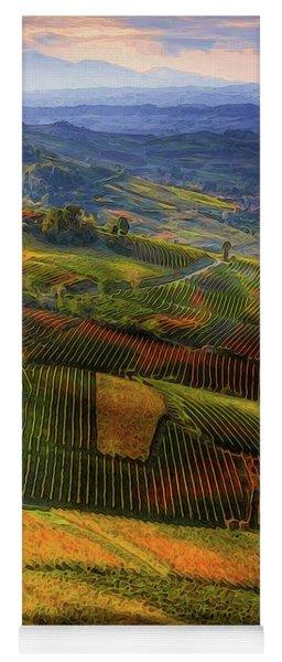 Tuscany, Italian Wineyards  Yoga Mat