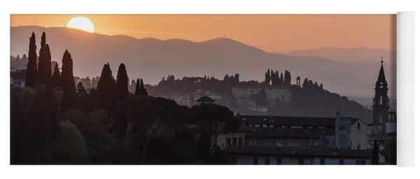 Tuscany Sunset In Florence Italy  Yoga Mat