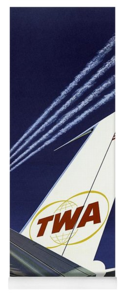 Twa Star Stream Jet - Minimalist Vintage Advertising Poster Yoga Mat