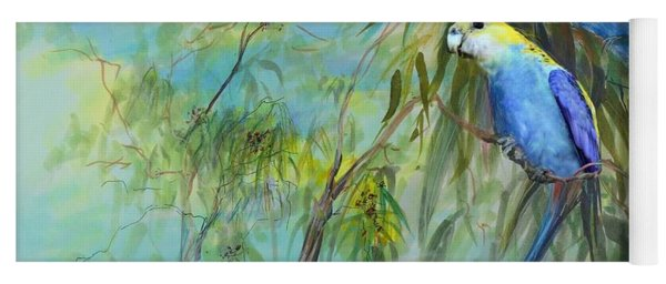 Two Pale-faced Rosellas Yoga Mat