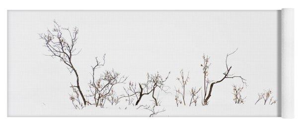 Twigs In Snow Yoga Mat