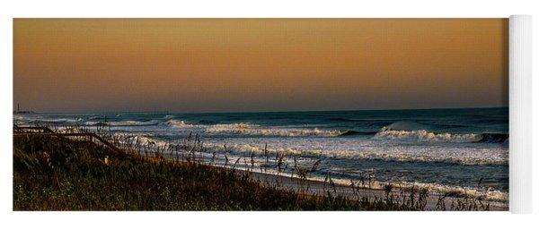 Twilight Along The Barrier Dunes Yoga Mat