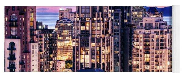 Twilight Over English Bay Vancouver Yoga Mat