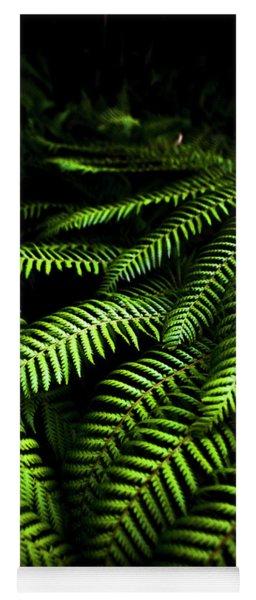 Twilight Rainforest Fern  Yoga Mat