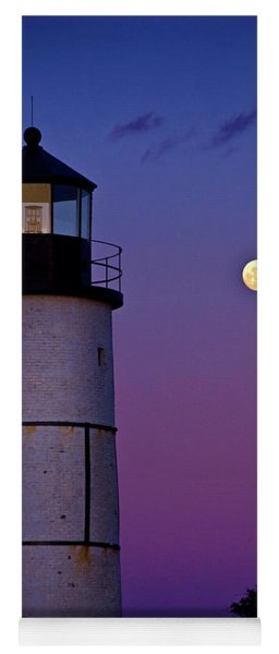 Twilight At Sandy Neck Lighthouse Yoga Mat