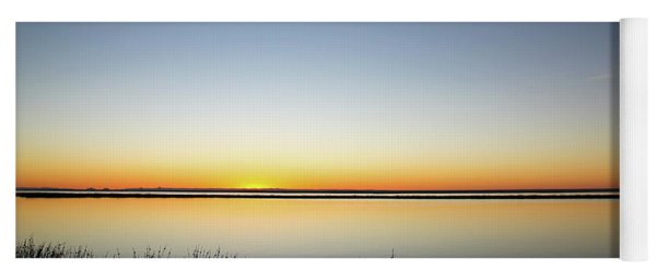 Twilight Stillness Down By The Beach Lagoon Yoga Mat