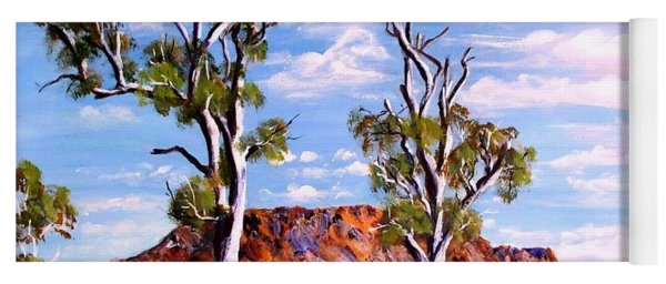 Twin Ghost Gums Of Central Australia Yoga Mat