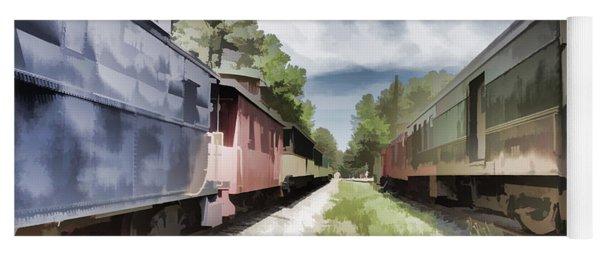 Twixt The Trains Yoga Mat