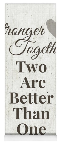 Two Are Better Than One- Art By Linda Woods Yoga Mat