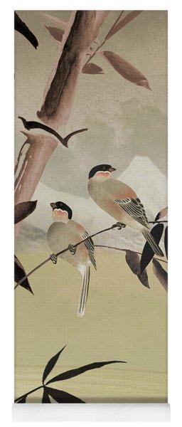 Two Birds In Bamboo Tree Yoga Mat