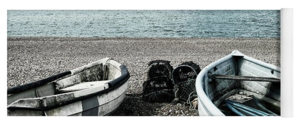 Two Boats On Seaford Beach Yoga Mat