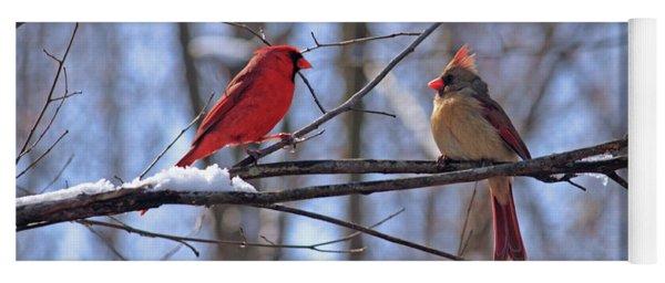 Two Cardinals Yoga Mat