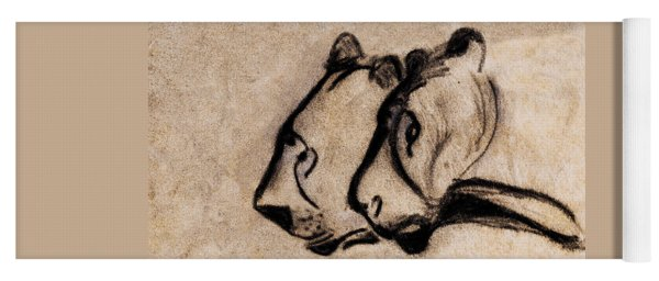 Two Chauvet Cave Lions - Clear Version Yoga Mat