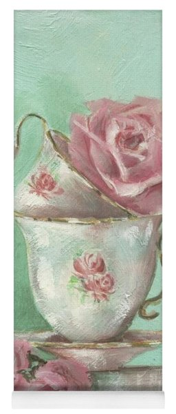 Two Cup Rose Painting Yoga Mat