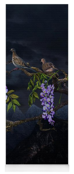 Mourning Doves In Moonlight Yoga Mat