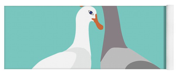 Two Ducks In Love Yoga Mat